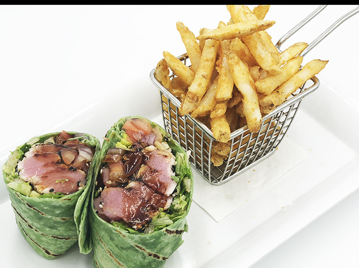 Sesame Seared Tuna Wrap